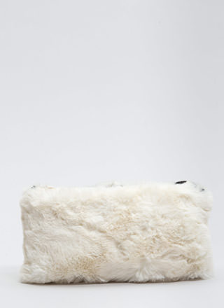 You've Got A Soft Touch Faux Fur Clutch