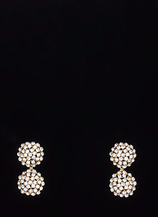 Feeling Clustered Faux Diamond Earrings