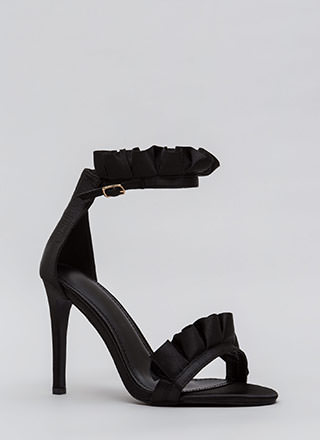 Ruffle Some Feathers Strappy Heels