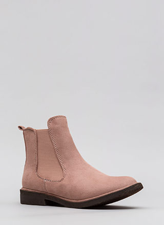 Chelsea Girl Faux Suede Booties