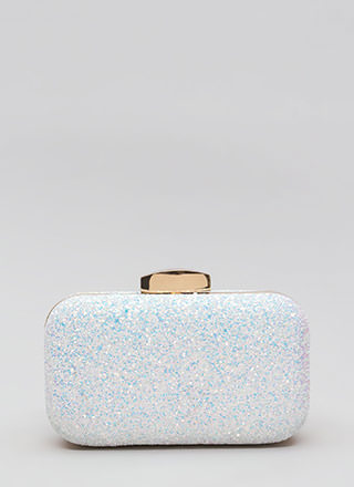 Glitter Storage Rounded Box Clutch