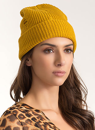 Don't Be Distressed Knit Beanie