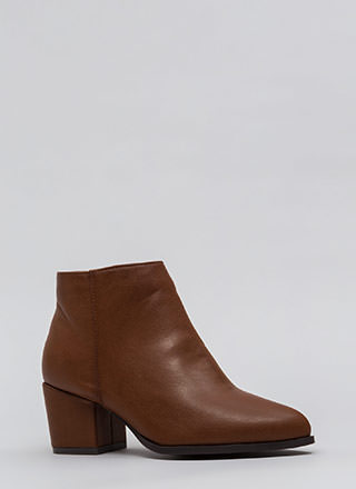 Easy Out Pointy Chunky Block Booties