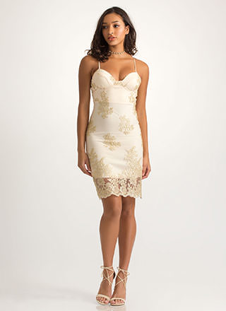 Fine Florals Lacy Embroidered Dress