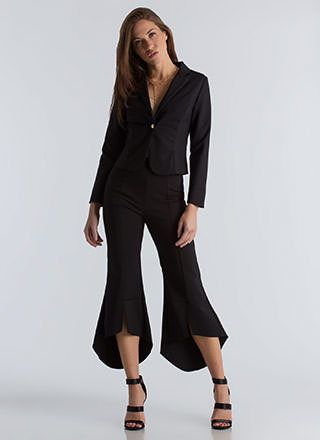 Flare For Business Blazer And Pant Set