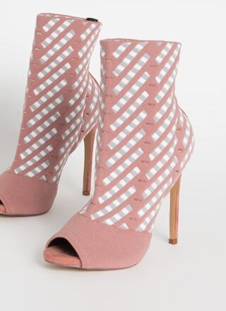 Basket Case Knit Peep-Toe Booties
