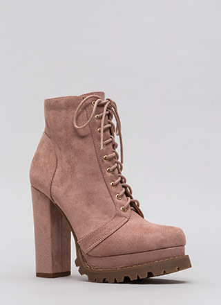 New Platform Chunky Lug Booties