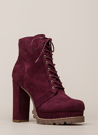 Perfect Platform Chunky Lug Booties