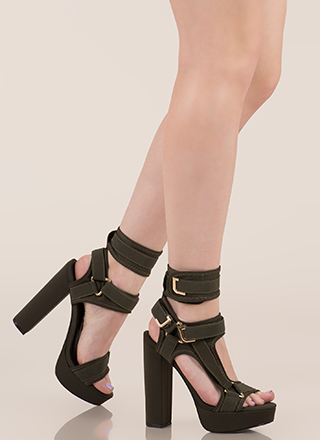 Band Mate Cut-Out Caged Platforms