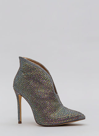 Glimmer Of Hope Jeweled Pointy Booties
