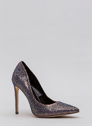 Glimmer Of Hope Jeweled Pointy Pumps