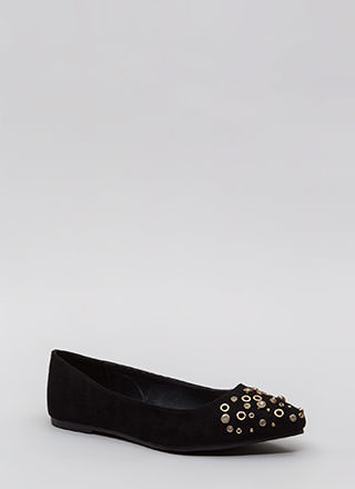 Do Embellish Studded Jeweled Flats