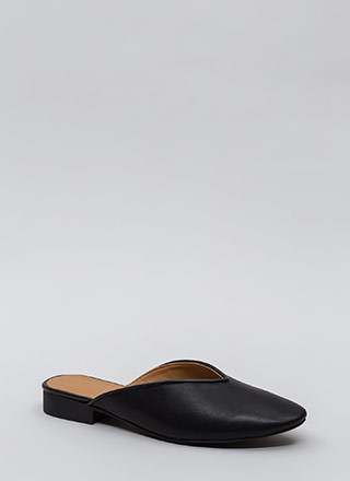 Let It V Known Faux Leather Flats