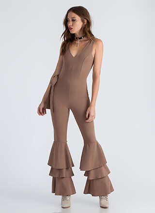 Bring Me To Tiers Ruffled Jumpsuit