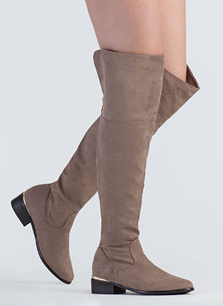 Run It Back Zip-Up Thigh-High Boots