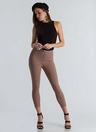 Tight Race Cropped Skinny Pants
