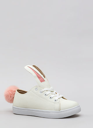 Bunny Business Pom-Pom Sneakers