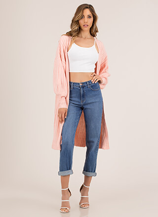 Warming Trend Puffy Sleeve Cardigan