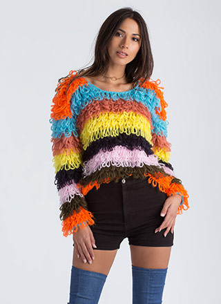 Jumping Thru Loops Striped Knit Sweater