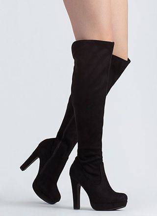Higher Up Platform Thigh-High Boots