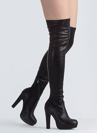 Tall Order Platform Thigh-High Boots