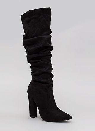 Learn To Slouch Chunky Pointy Boots