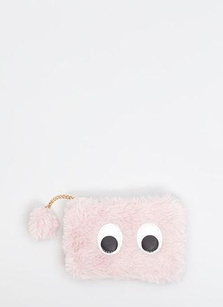 Looky Here Faux Fur Eye Patch Wallet