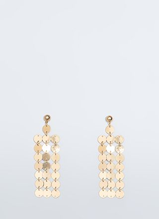 Coin The Phrase Paillette Earrings