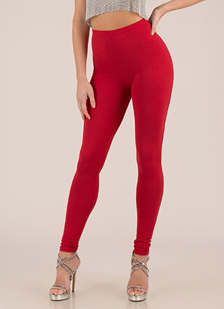 Basically Must-Have Solid Leggings