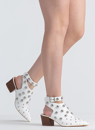 Bubble Bath Studded Faux Leather Heels