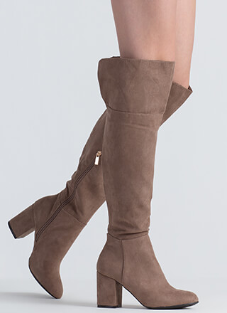 Keep It Chunky Over-The-Knee Boots