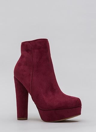 Pipe Dream Chunky Platform Booties