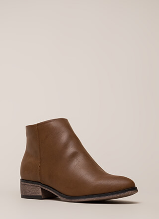 Simple Things Faux Leather Booties