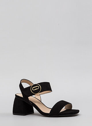 Block Of Time Flared Chunky Heels