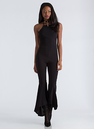 Dancing Queen Flared Halter Jumpsuit