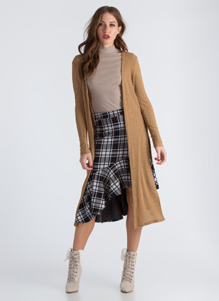 On The Double Slit Duster Cardigan