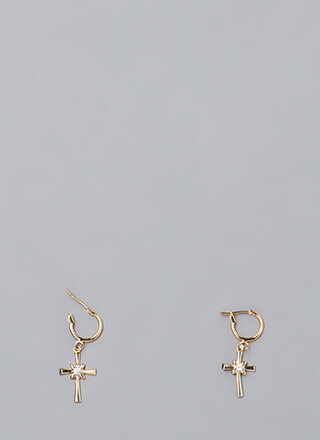 Twinkle Twinkle Cross Charm Earrings