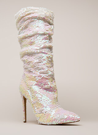 Party Over Here Slouchy Sequined Boots