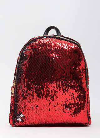 Flipping Amazing Sequined Backpack