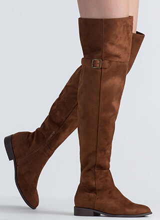 Tall Tale Faux Suede Thigh-High Boots