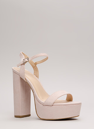 Tall Tale Chunky Ankle Strap Platforms