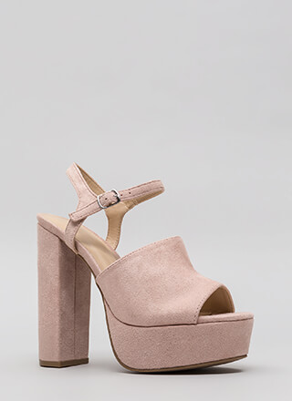 Day To Night Chunky Platform Heels