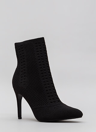 Add A Little Texture Pointy Knit Booties