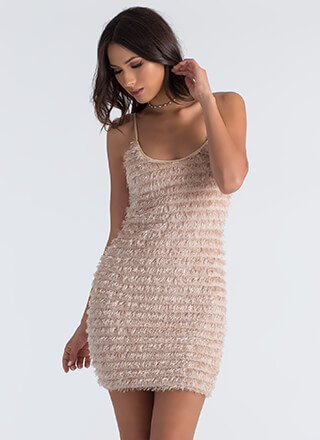 Fringe Forever Fuzzy Tiered Dress