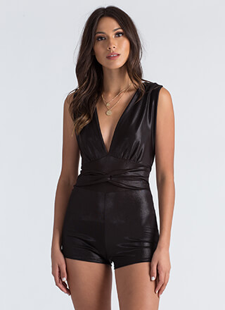In the Loop Strappy Plunging Romper