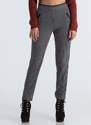 Lines Of Communication Pinstriped Pants