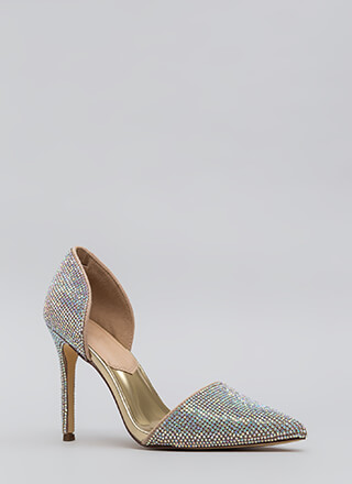 Walking Gems Iridescent Jeweled Heels