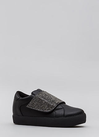 Sparkle Away Jeweled Velcro Sneakers