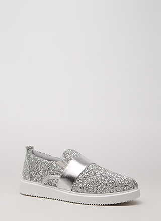 Maximum Sparkle Glittery Sneakers