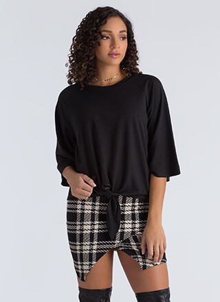 Knot To Worry Tied Flared Sleeve Top
